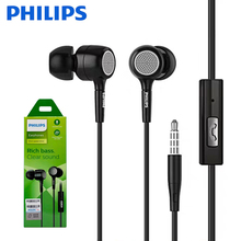 Original Philips SHE1515 Wired Headsets In ear 3.5mm Plug Black Music Earphone With Microphone For Huawei Xiaomi Sumsung