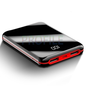 30000 мАч Внешний аккумулятор с зеркальным экраном и цифровым дисплеем, внешний аккумулятор, портативный мини-смартфон, Мобильный Внешний акк...