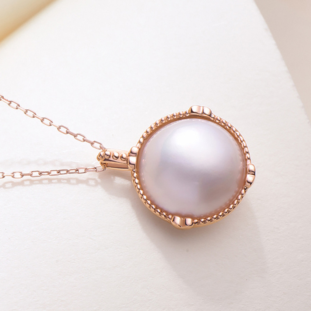 Ladies Luxury Handpicked AAA Freshwater Cultured Single Pearl Pendant Necklaces for Women Wedding Gift Jewelry 7