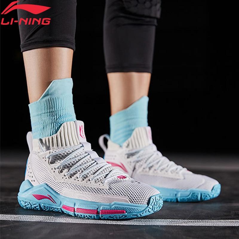 Li-Ning Men FISSION V Wade Professional Basketball Shoes Cushion Mono Yarn LiNing CLOUD Sport Shoes Sneakers ABAP027 XYL269