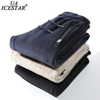 UAICESTAR zimowe spodnie polarowe marki mężczyźni ciepłe w stylu Casual z haftami spodnie dresowe dla joggerów spodnie S-8XL duże rozmiary odzież męskie spodnie tanie i dobre opinie CN (pochodzenie) Mieszkanie Poliester COTTON embroidery REGULAR Pełnej długości O861 Na co dzień Suknem Sznurek