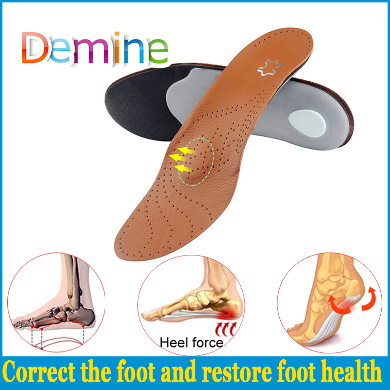 ORTHOPEDIC MEDICAL ARCH SUPPORTS Leather Insoles Men All Sizes Women