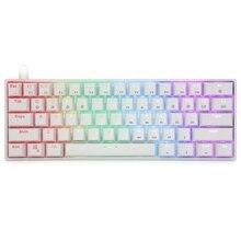 Портативная механическая клавиатура SK61 Gk61 60%, оптические переключатели Gateron с подсветкой и горячей заменой Q9QC
