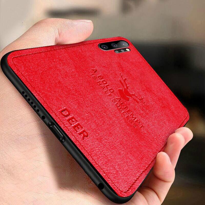 Cloth Soft TPU Deer Case For Samsung Galaxy Note 10 Pro A50 A30 M30 M20 A9 A7 2018 S10E S10 S9 S8 A6 A8 Plus J4 J6 2018 Cover