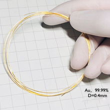 Diameter 0.4 gold wire pure gold wire Au wire high purity gold wire Au 99.99