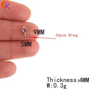 Image 3 - Accesorios de joyería de 5x9MM con diseño de Cordial, conectores de joyería de cristal, forma de corazón, hechos a mano, DIY, accesorios para pendientes, 100 Uds.