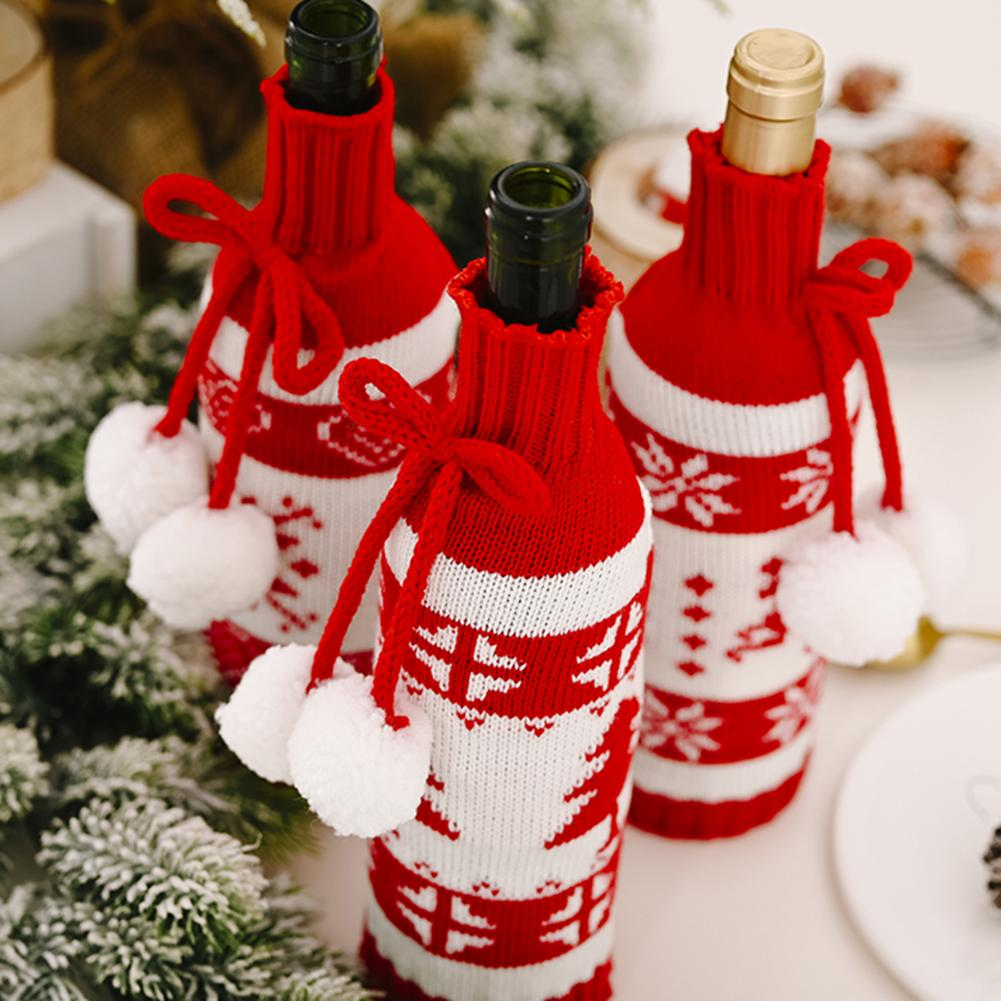 Frugal Santa Claus Wine Bottle Cover Christmas Decorations For Home 2020 Christmas Stocking Gift Navidad New Year's Decor 2021 Good Companions For Children As Well As Adults