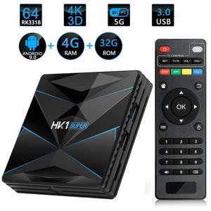 XGODY HK1 Android 9,0 Dispositivo de TV inteligente Google asistente Super Dual Wifi reproductor de medios de youtube, netflix 4G/16G/32G/64G/128G Set Top Box