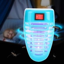 4W 110-240V Blue Color LED Mosquito Bug Killer Lamp Efficient Household Insects Killing Light