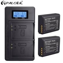 PALO 2 шт. LP-E10 батареи для камеры Canon+ ЖК USB двойной зарядное устройство Замена LP E10 LPE10 EOS 1100D 1200D 4000D Kiss X50 X70