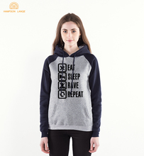 Funny Game Hoodies Eat Sleep Rave Harajuku Sweatsh