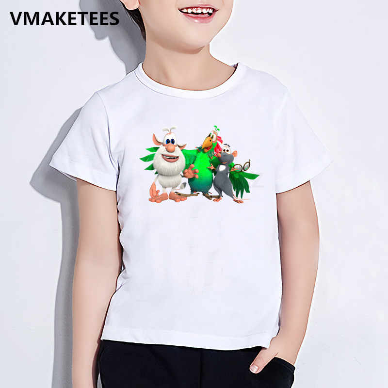 Girls Boys Russian Cartoon Booba Print T shirt Kids Funny Casual Clothes Children Summer Short Sleeve Baby T-shirts,HKP5312