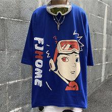 Летняя футболка с аниме Наруто мультяшная мода темная Хай стрит