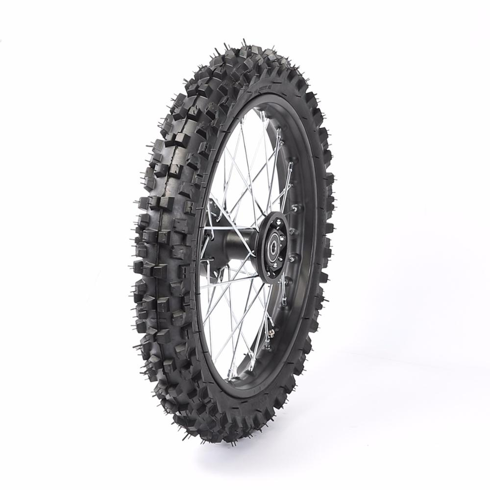 "15mm 60/100 14"" Inch Front Wheel & Rim Tire Tyre Pit Pro Trail Dirt Bike