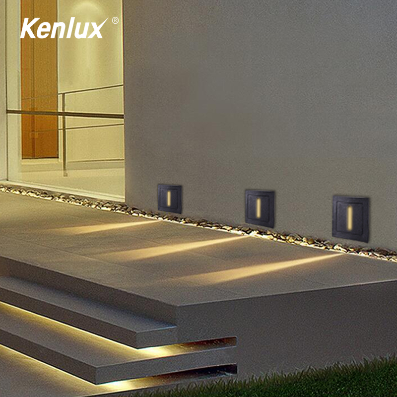 3W CREE Indoor Led Stair Light AC85-265V Recessed Wall Lamp Sconce Lights Step Lamps Stairway Lights Corridor Lighting With Box