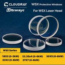Ultrarayc wsx janelas protetoras 18*2/30*5/37*7 lente protetora 0-6kw lente óptica para wsx cabeça do laser nd18 mn15 nc12 nc30 nc60
