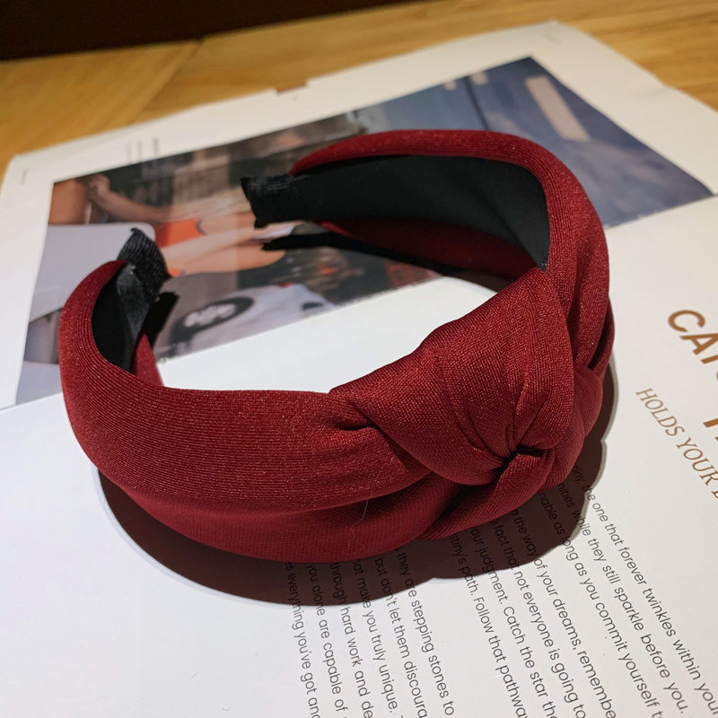 nó completo 3d puro colore headbands cabeça
