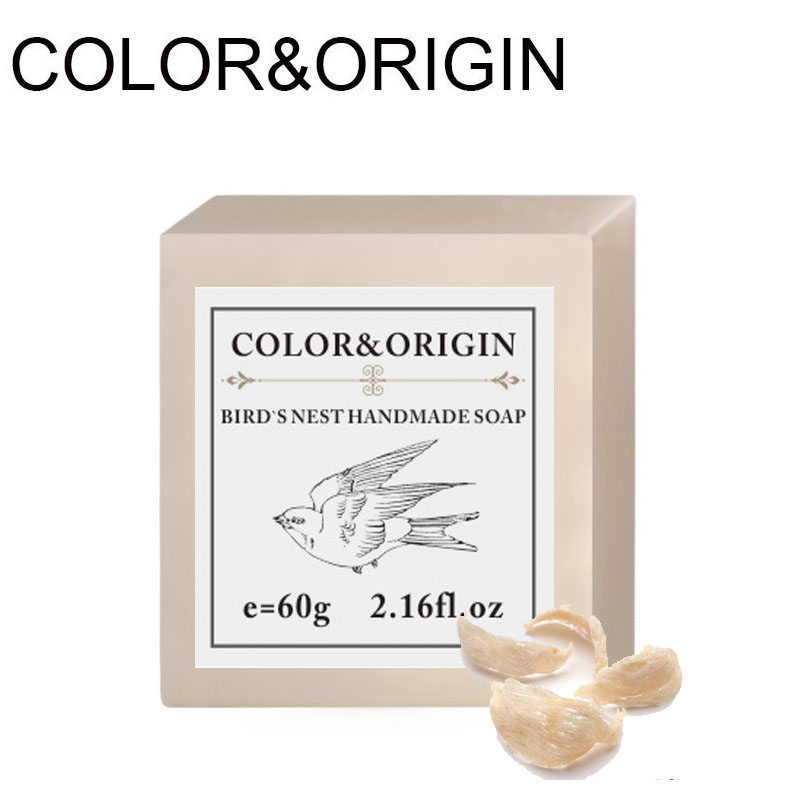 Color&Origin Bird's Nest Hand Soap Organic Essential Oil Skin Whitening Soap Natural Herbal Aroma Deep Cleansing Face Bleaching