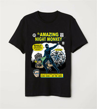 The Amazing Night Monkey Comic Cover Funny Spider-Man Parody Black T-Shirt Casual Tee Shirt(China)