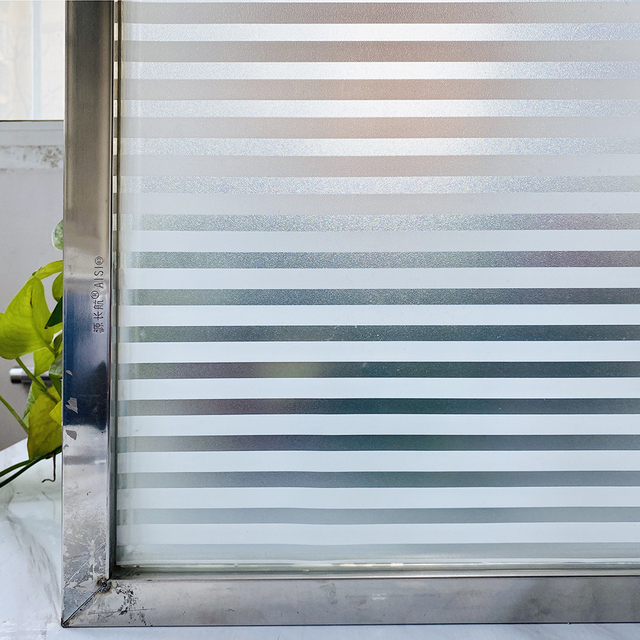 Matte Shutters Stained Self Adhesive Window Film Privacy Protective Vinyl Glass Sticker Frosted Stained Window Decals For Home 1