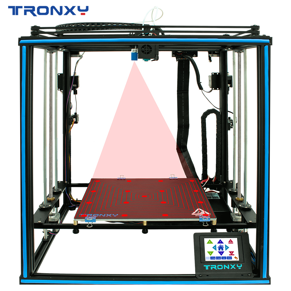 Tronxy 3D Printer X5SA-2E Bicolor 2 in 1 out  Dual Extruder DIY Print Kits Auto level Printing imprimante 3d printer hotend