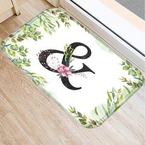 Image 1 - Alfombra de franela Rectangular con alfabeto de 40*60 colores, alfombra de suelo lavable, alfombra decorativa para dormitorio de casa, alfombra antideslizante para Baño