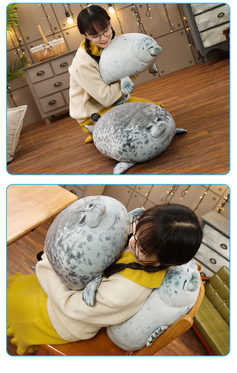 High Quality 80cm Sea Lion Toy 3D Novelty Throw Pillow Soft Seal Plush Stuffed House warming Party Hold Pillow 1