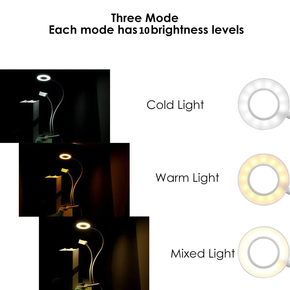 cheapest 10in Retractable Phones Bracket Annular Fill Light for Live Shooting Photograph Selfie Photo Ring Light Double Color Temperature