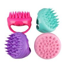 Massage-Brush Head Shower-Hair-Comb Scalp-Shampoo Silicone 5-Colors Mini Handheld Washing
