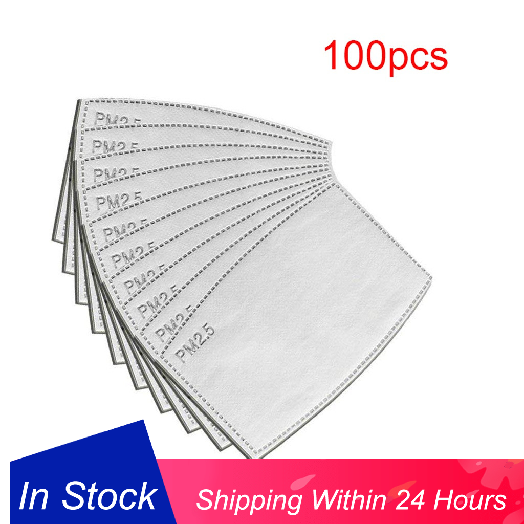 100Pcs/lot Mouth Filter PM2.5 Activated Carbon Filters Face Mask Breathing Insert Protective Mouth Mascherina FFP3