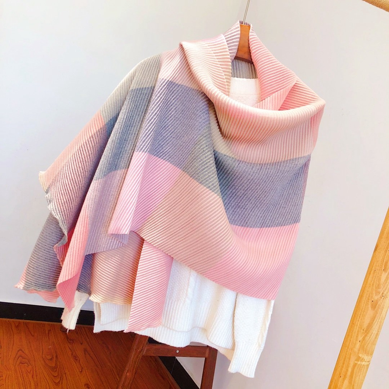 Woman Winter Scarf Wool Blended Material Soft Warm High-grade Scarf Shawl
