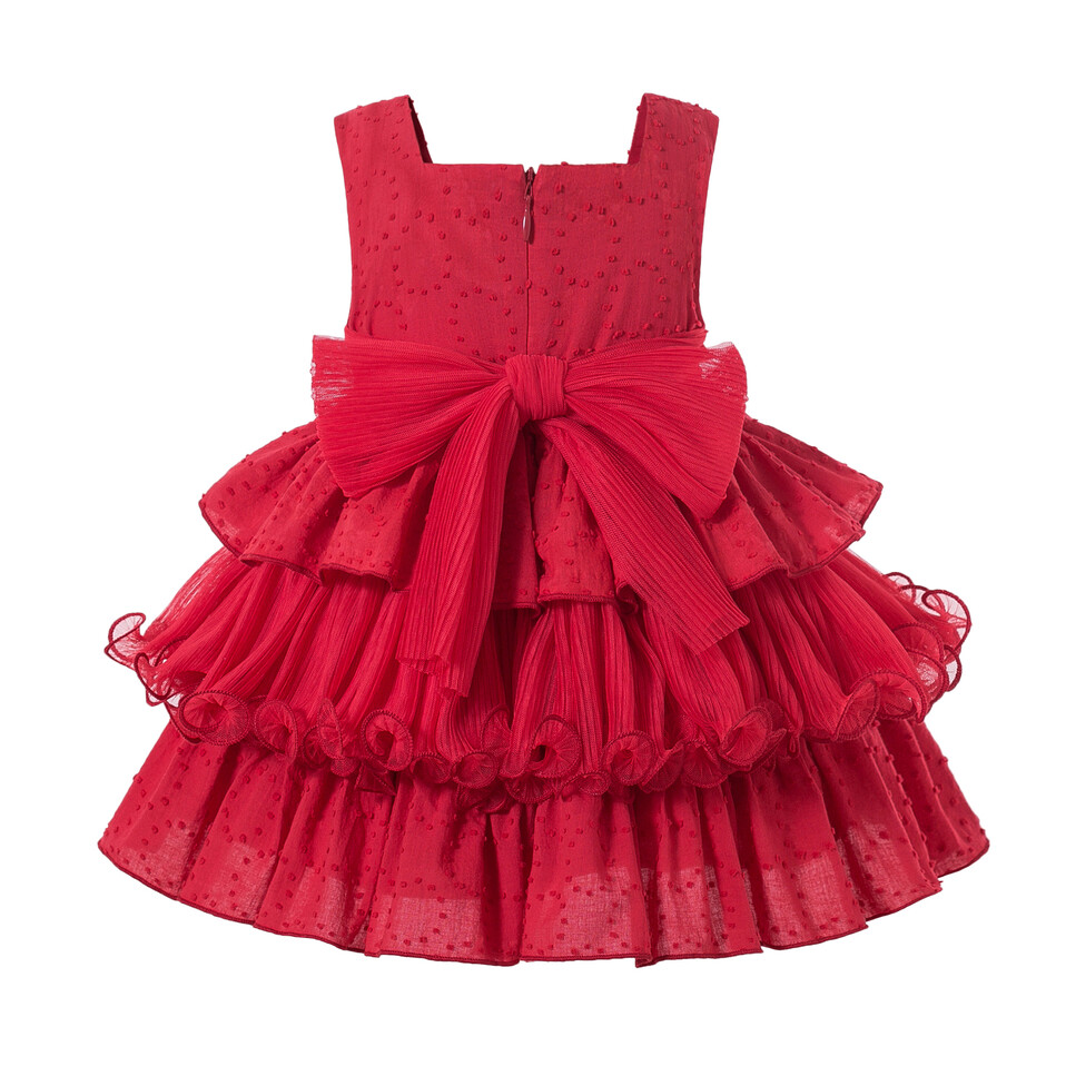Pettigirl Baby Girl Clothes Newborn Set Red Sleeveless Layered  Square Collar Baby Girl Summer Clothes
