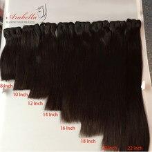 Tissage en lot péruvien 100% naturel – Arabella, cheveux vierges, lisses, Double épaisseur, lot de 10