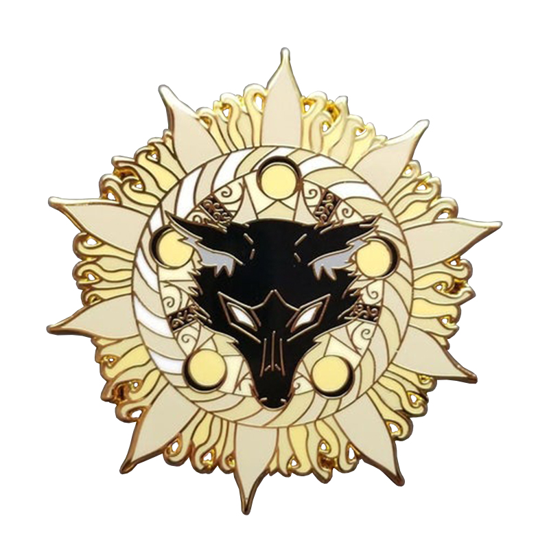 Star-Bound Wolf, Large Hard Enamel Pin - Dark Romance Collection(China)