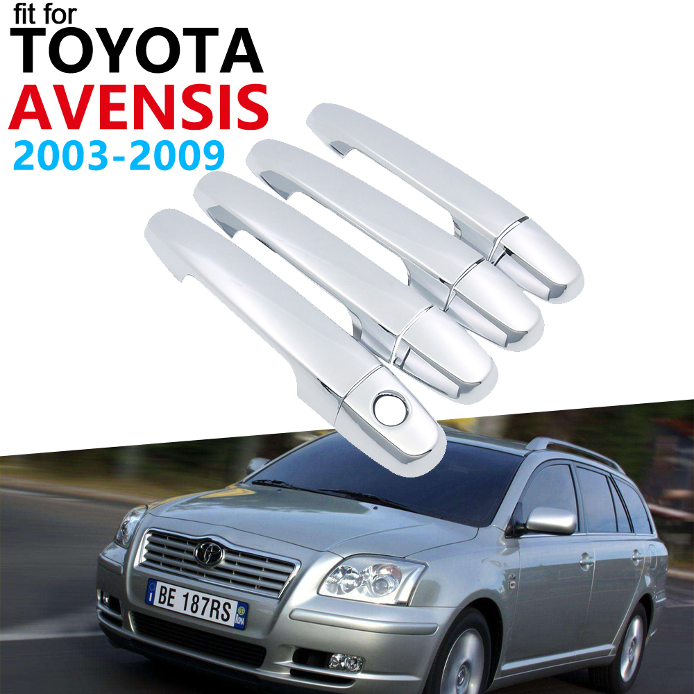 Door Handle Car Accessories for Toyota Avensis T250 T25 2003~2009 Chrome Handle...