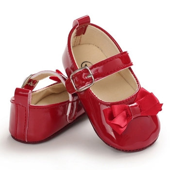 Newborn Baby Girl Shoes Moccasins Bow First Walker Soft Soles Cute PU Leather Sneakers Toddler Anti-Slip Princess Shoes