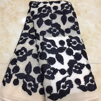 top quality Embroidered Tulle Lace Fabric african lace fabric with embroidery