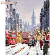 Gatyztory Раскраска по номерам «сделай сам» лондонская улица