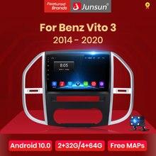 Junsun-Radio Multimedia V1 con GPS para coche, Radio con reproductor de vídeo, Android 10,0, DSP, 2 din, dvd, para Mercedes Benz Vito 3
