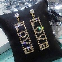 Long Tassel Crystal Drop Earrings for Women Irregular Rhinestone Dangle Earring Weddings Fashion Jewelry Gifts