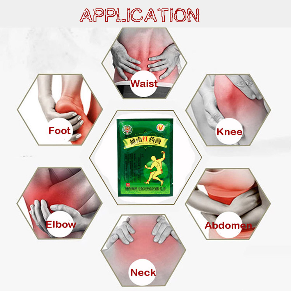 16pcs 2bags Red Tiger Balm knee pads for arthritis Curative Plaster For Joint Back Neck Body Patches Medical plaster in Patches from Beauty Health