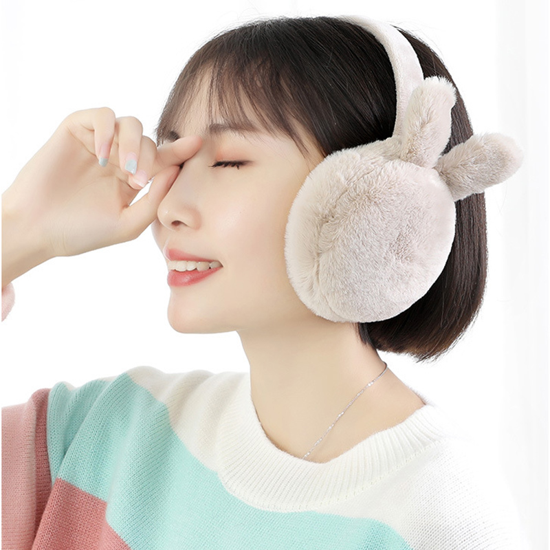 Winter Plush Ear Muffs Foldable Cartoon Women Warm Earmuffs Ear Warmer SSA-19ING
