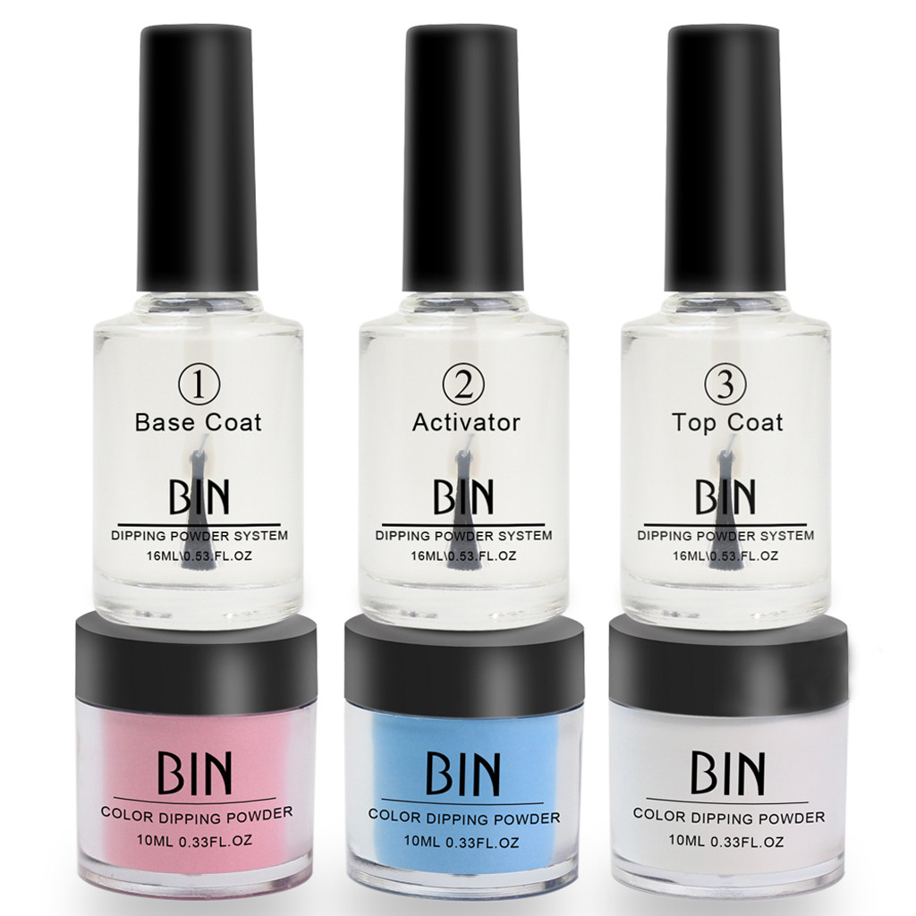 Nail Tips Fashion Femme 16ml Dip Powder Set Acrylic Liquid Dipping System Without Lamp Cure Natural Dry Beauty Mujer Tops Set image