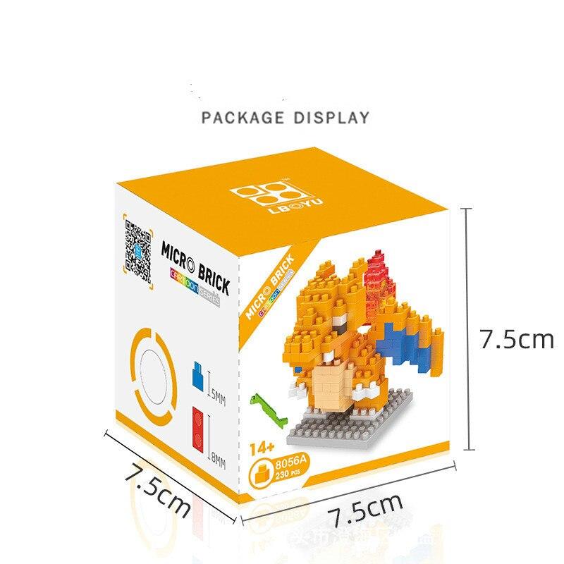 POKEMON Mini Blocks Small Building Block Compatible Gengar Onix Ho-Oh Caterpie Building Block Construction Toys Blocks 2