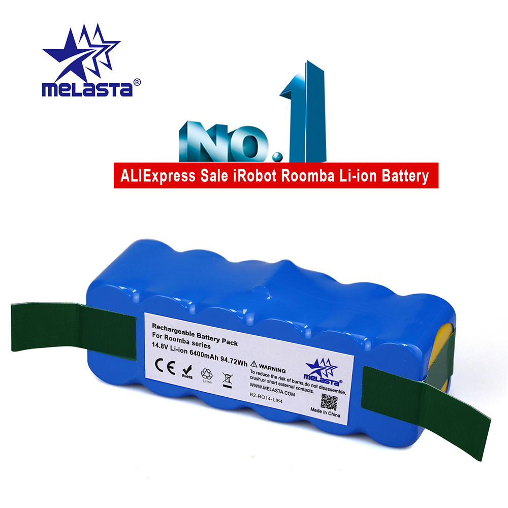 6.4Ah 14.8V Li-Ion Batteria Per IRobot Roomba Serie 500 600 700 800 510 530 550 560 580 620 630 650 760 770 780 790 870 880 R3
