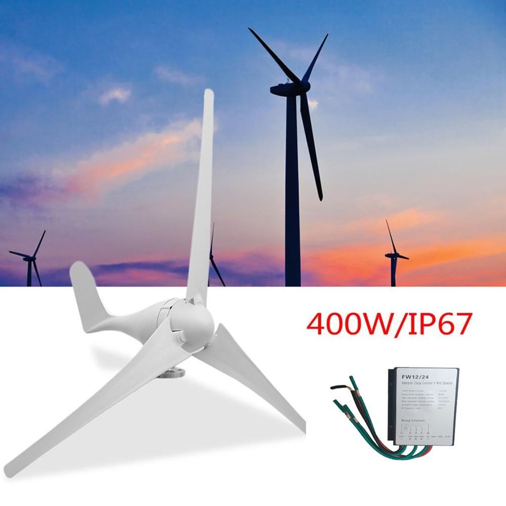 New FR <font><b>400W</b></font> 12V <font><b>Wind</b></font> Turbine <font><b>Generator</b></font> Kit of 3 Blades High Efficiency Kit for Home and Business Power Supplementation image