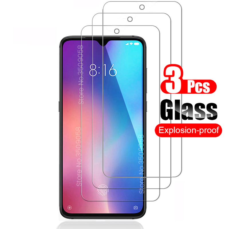 3PCS protective <font><b>glass</b></font> for <font><b>xiaomi</b></font> mi 9 se 8 <font><b>a1</b></font> a2 lite light 9se a3 9t pro play <font><b>screen</b></font> <font><b>protector</b></font> <font><b>glasses</b></font> for <font><b>xiaomi</b></font> pocophone f1 image