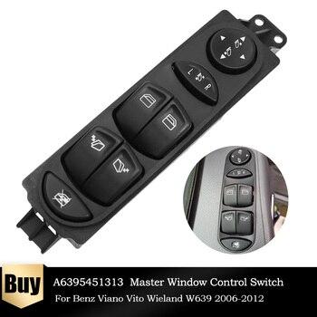 Regulador de interruptor delantero izquierdo para coche, Control de ventana maestra eléctrica, para Benz Viano Vito W639 2009-2016 A6395451313, 6395451313