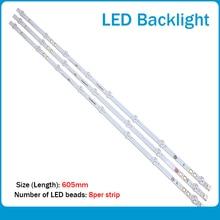 New 6 PCS 745mm LED backlight strip for LG vestel BUSH DLED40287FHD LB40017 V1_05 38S 17DLB40VXR1 VES400UNDS 2D N11