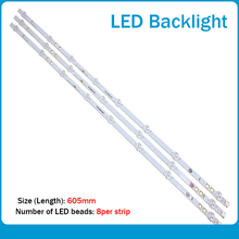 Tira de LED para iluminación trasera para LG vestel BUSH DLED40287FHD LB40017 V1_05 38S 17DLB40VXR1 VES400UNDS 2D N11, 6 uds., 745mm, nuevo
